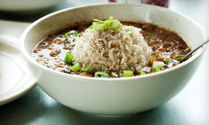 J. Gumbo's of SC - Downtown: Punch Card for Four Entrees or $8 for $16 Worth of Cajun Gumbo and Drinks at J. Gumbo's of SC (Up to 54% Off)