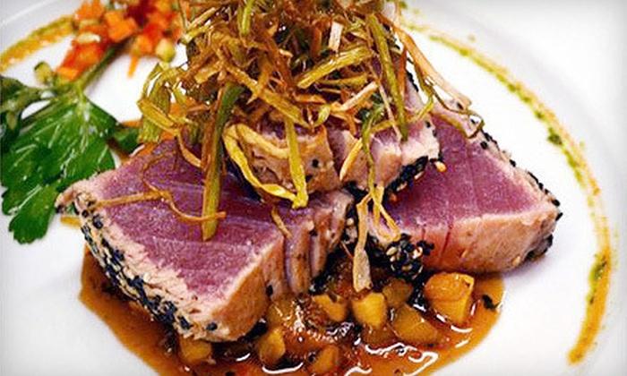 Pistachio Grille - Maple Glen: New-World Cuisine for Dinner for Two or Four at Pistachio Grille (Up to 51% Off)