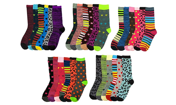 Women's Assorted Crew Socks (30 Pairs)