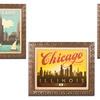 Chicago and New York Framed Artwork