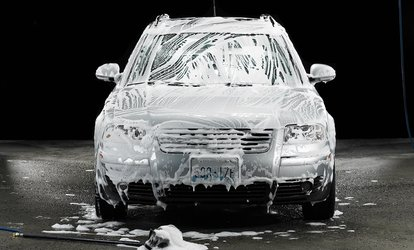 $42.99 for a Platinum <strong>Wash</strong> with Rain-X Wheel and Windshield Treatment at Aqua Handwash & Gas ($42.99 Value)