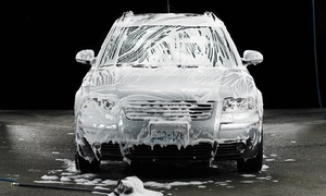 Aqua Hand Wash: $42.99 for a Platinum Wash with Rain-X Wheel and Windshield Treatment at Aqua Handwash & Gas ($42.99 Value)