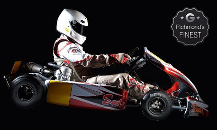 G-Force Karts - Richmond: Two or Three Adult or Junior Kart Races at G-Force Karts (Up to 59% Off)