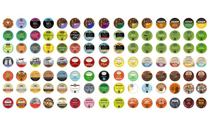 Sampler of 105 Single-Serve Drink Pods: 105-Count Sampler of Single-Serve Drink Pods