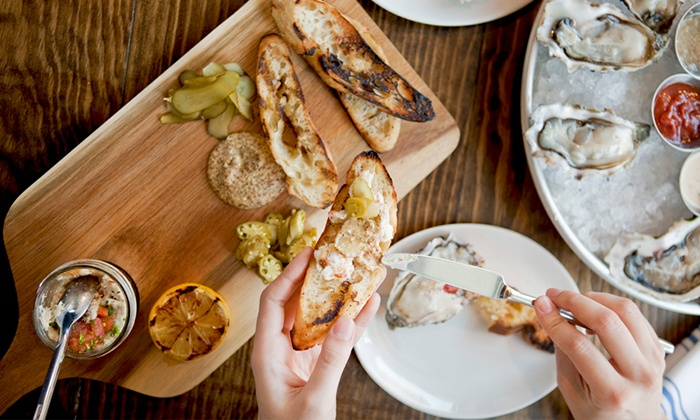 Plank Seafood Provisions - Downtown: Seafood and Oysters for Two or Four at Plank Seafood Provisions (42% Off)
