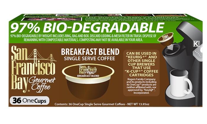 36-Pack of San Francisco Bay Coffee Single-Serve Breakfast Blend Coffee: 36-Pack of San Francisco Bay Coffee Single-Serve Breakfast Blend Coffee