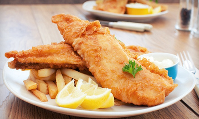 Gulf Coast Grouper & Chips - Redevelopment Area: $10 for $20 Worth of Seafood and Drinks Sunday–Thursday at Gulf Coast Grouper & Chips