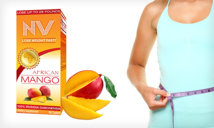 NV African Mango Dietary Supplement: One, Two, or Three Bottles of NV African Mango Dietary Supplement (Up to 68% Off). Free Shipping.