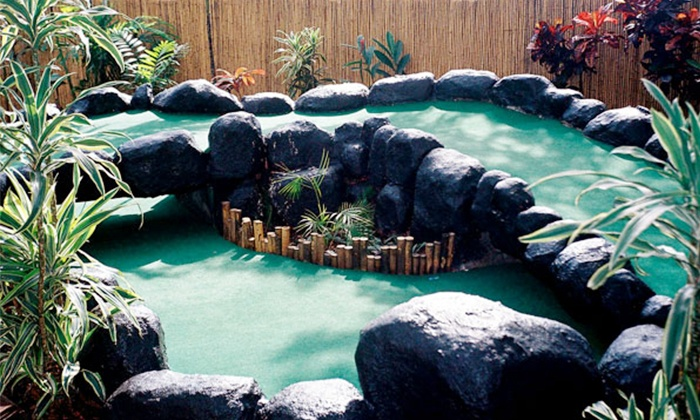 Jungle River Mini Golf - Aiea: Mini Golf, Hot Dogs, and Drinks for Four or Eight at Jungle River Mini Golf (Up to 51% Off)