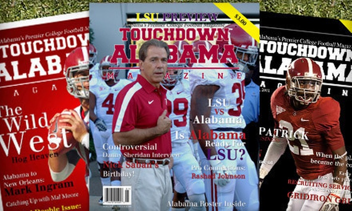 """Touchdown Alabama Magazine"" - Mobile / Baldwin County: One- or Two-Year Gold Subscription, or One-Year Digital Subscription to ""Touchdown Alabama Magazine"" (Up to 75% Off)"