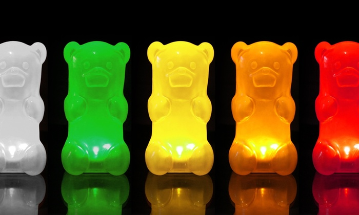 GummyGoods Nightlights: $24 for a GummyGoods Gummy-Bear Nightlight ($29.99 List Price). Five Colors Available. Free Shipping and Free Returns.