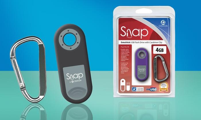 Centon Snap DataStick 4GB USB Flash Drive with Carabiner Clip: Centon Snap DataStick 4GB USB Flash Drive with Carabiner Clip in Black or Purple. Free Returns.