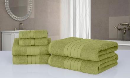 6-teiliges Handtuch-Set in der Farbe nach Wahl