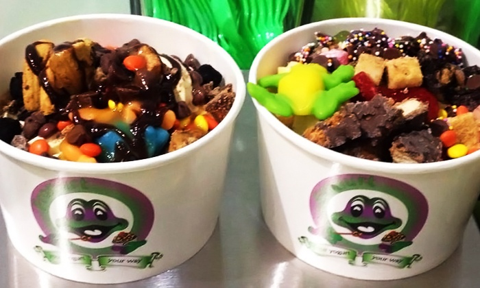 Frogurt - Charlotte - Hickory: Frozen Yogurt at Frogurt (Up to 40% Off). Two Options Available.