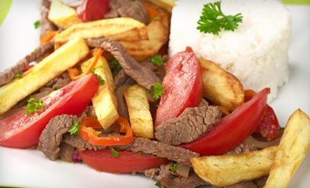 $12 for $25 Worth of Peruvian Food for Two or More at Peru Peru Grill