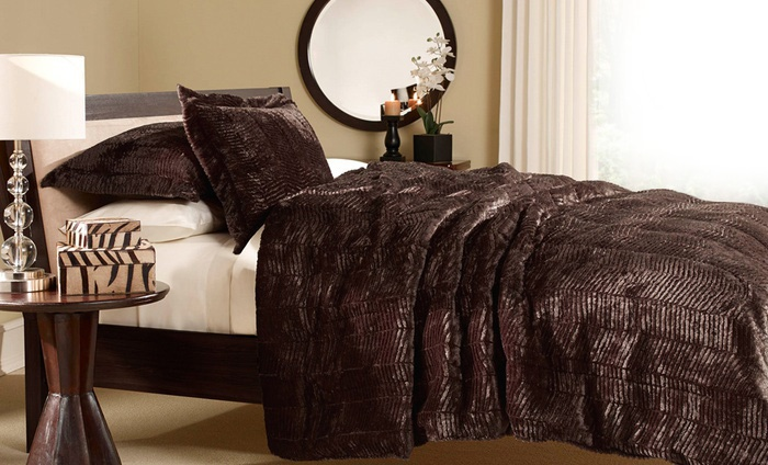 Faux Tiger Fur Comforter Set Groupon Goods