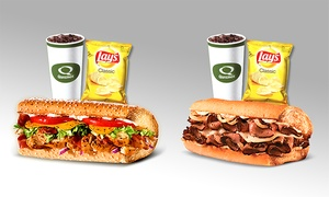 Quiznos: Small-Subs Meal for Two or Four at Quiznos (Up to 35% Off)