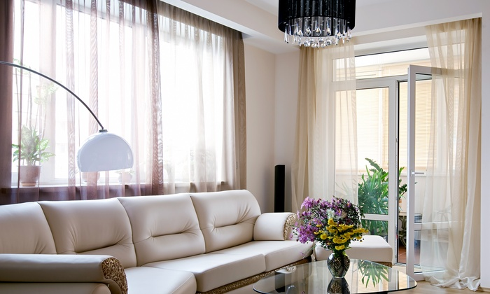 Alluring Window - Clinton: Shutters, Shades, Blinds, Drapes, and Motorization from Alluring Window (Up to 64% Off). Two Options Available.