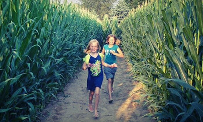 Harvest Moon Acres - Gobles: Corn Maze, Hayrides, Petting Zoo and Outdoor Fun Zone for Two, Four, or Six at Harvest Moon Acres (Up to 56% Off)