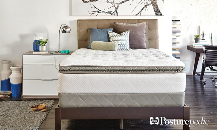 Queen Mattress Only Sealy Plush Pillowtop Full Mattress