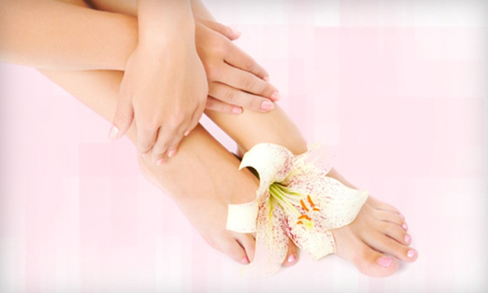 Peter Alexandra Salon & Spa - East Islip: $21 for a Shellac or Spa Mani-Pedi at Peter Alexandra Salon & Spa ($55 Value)