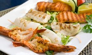 Ristorante Pizzeria Medioevo: Menu di pesce fresco con bottiglie di vino per 2, 4 o 6 persone al ristorante Medioevo (sconto fino a 67%)