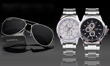 Reloj para hombre con opción a gafas de sol