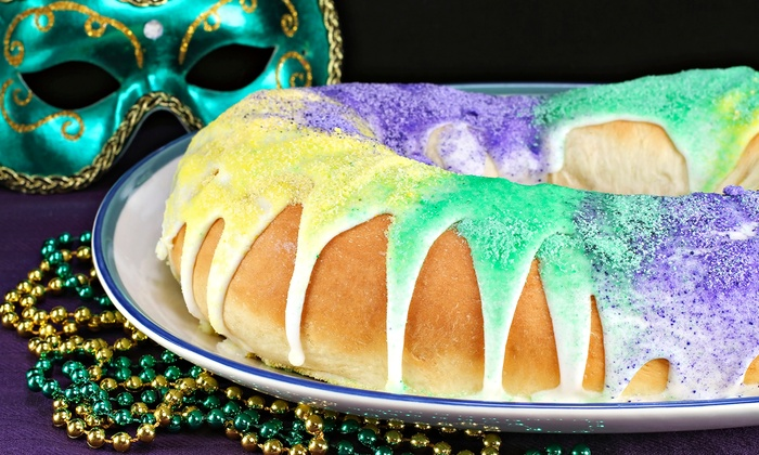 Breaux Mart - Multiple Locations: Unfilled or Filled King Cake at Breaux Mart. 10 Options Available.