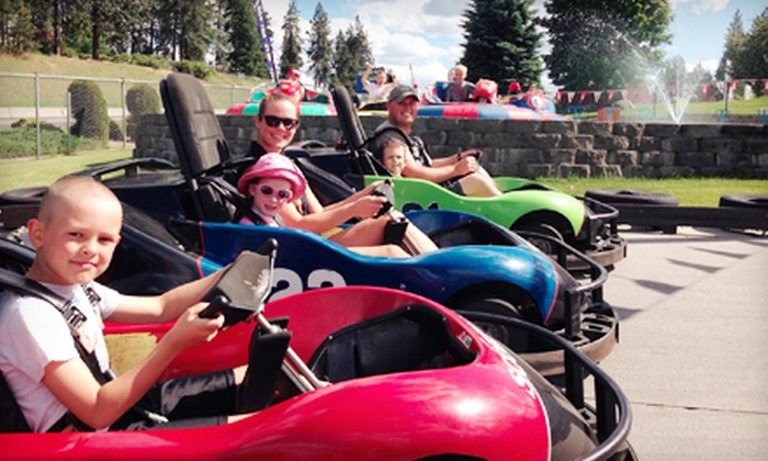 Wonderland Family Fun Center - Spokane: $7 for $14 Worth of Go-Kart Races, Bumper Boats, Laser Tag, Rock Climbing, and Mini Golf at Wonderland Family Fun Center