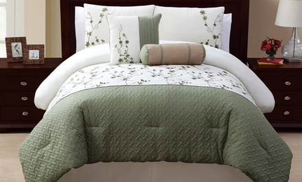 5-Piece Embroidered Comforter Set. Multiple Sizes from $69.99–$74.99. Free Returns.