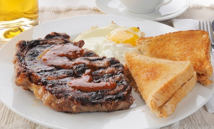 $23 for Chicken and Shrimp, Sirloin Steak, and Supreme Omelet Entrees for Two or More at Steak & Eggs ($43.97 Value)