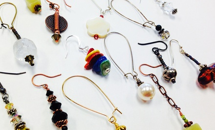Build-Your-Own-Earrings Class for One or Two at The Bead Place (62% Off)