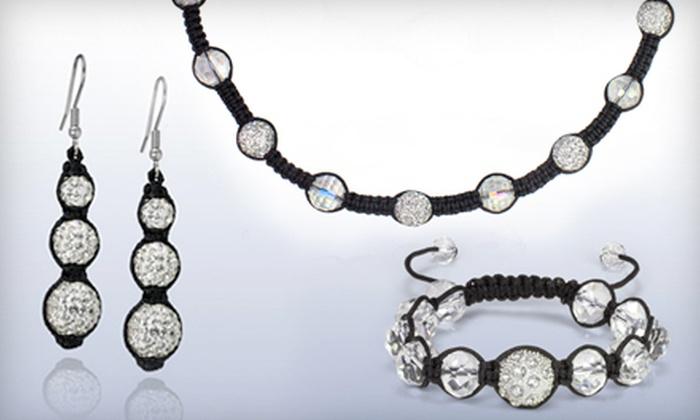 Vivah Jewellery - Multiple Locations: Shamballa Jewellery Set or $19 for $45 Worth of Jewellery at Vivah Jewllery