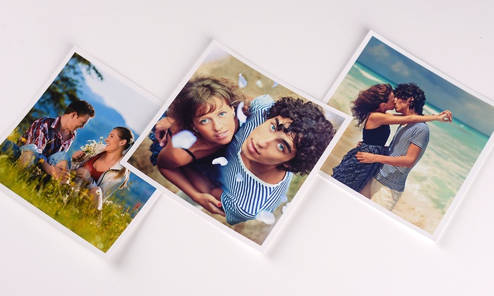 Up to 60 square photo prints in a choice of size from colorland up to