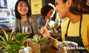 Up to 28% Off Tiny Terrarium and Zen Garden-Making at Plant Nite, plus Up to 4.0% Cash Back from Ebates.