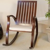 Panel-Back Mahogany-Finish Wooden Rocking Chair