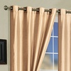 """Mira Faux-Silk 55""""x84"""" Curtain Panel Pair with Grommets"""