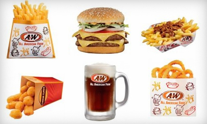 A&W of Smithfield - Greenville: $15 for $30 Worth of American Fare and Drinks at A&W of Smithfield