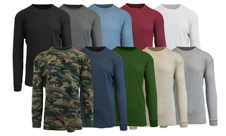 Men's Waffle-Knit Long-Sleeve Thermal Shirt (4-Pack) a38bf4af-a709-4c55-aa0b-67658d5b4578