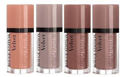 Four-Piece Bourjois Rouge Velvet Liquid Lipstick Set