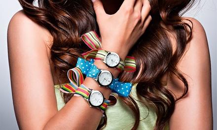 Relógio Ribbons com Swarovski Elements por 14,99€ ou dois por 21,99€