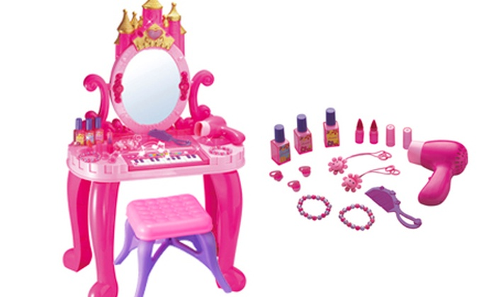 Children S Vanity Table Set Groupon Goods