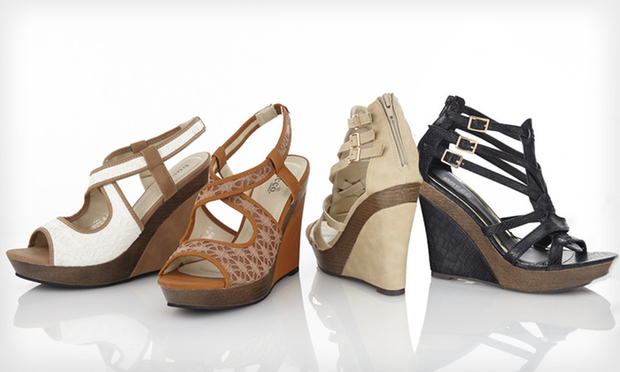 Bucco Wedge Sandals: $43.99 for Bucco Wedge Sandals ($74.99 List Price). 45 Options Available. Free Shipping and Returns.