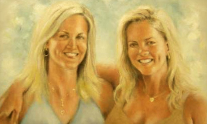 """Portraits By Kevin - Pacific Beach: $399 for One 24""""x36"""" Canvas Family-Portrait Painting from Portraits By Kevin ($1,500 Value)"""