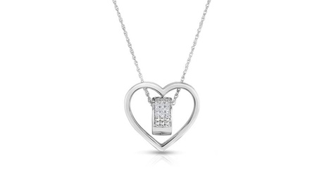 1/4 CTTW Diamond Heart-in-Heart Pendant
