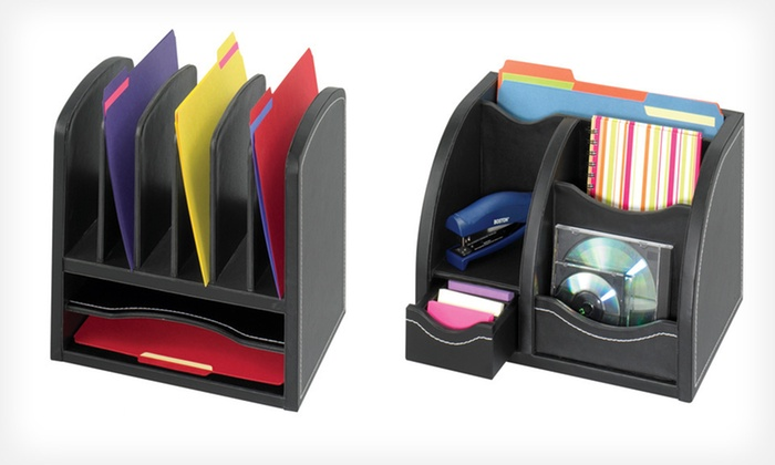 Safco Leather Desk Accessories Groupon Goods