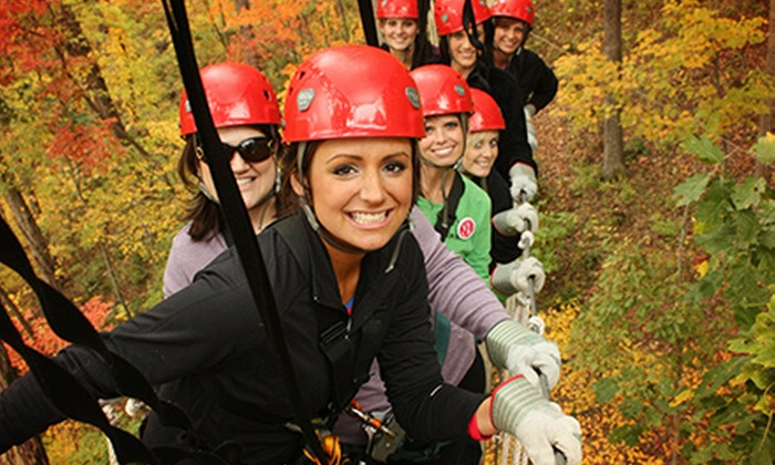 North Georgia Canopy Tours - Lula: Sky Bridge Ziplining Tour for One or Four from North Georgia Canopy Tours (Up to 55% Off)