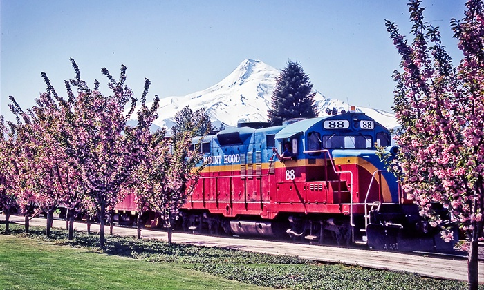 Mount Hood Railroad - Mount Hood Railroad Depot: 4.5-Hour Scenic Train Tour for Two People from Mount Hood Railroad (50% Off). 42 Options Available.