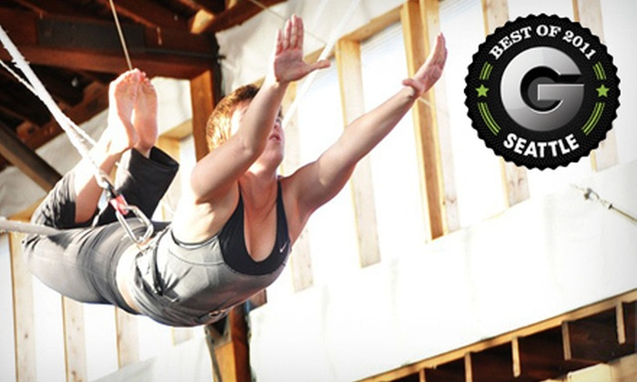 Emerald City Trapeze Arts - SODO: $37 for a Two-Hour Flying-Trapeze Class with Registration Fee at Emerald City Trapeze Arts ($74 Value)