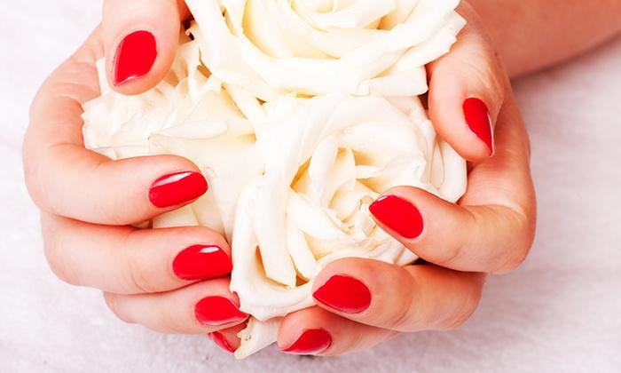 Manicure or nail fill la vie nails salon groupon for A new look nail salon